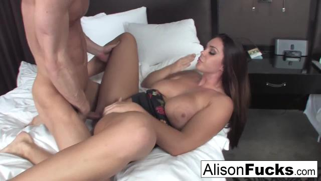 Alison tyler presents a buddy for the day who gives her a fantastic fuck